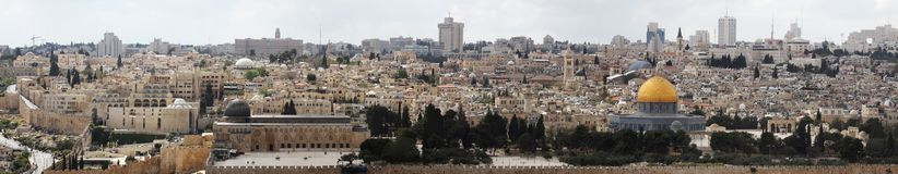 Jerusalem. Panorama of Jerusalem, Israel. View from the Mount of Olives Stock Photo