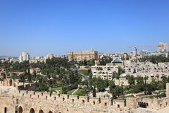 Jerusalem Panorama with King David Hotel Royalty Free Stock Images