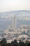 Jerusalem panorama of modern city with a bird's-eye view. Jerusalem, Israel - December 26, 2013: Jerusalem panorama of modern city with a bird's-eye view Royalty Free Stock Photography