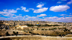 Jerusalem panorama. One of the most beautiful landscapes Royalty Free Stock Images