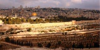 jerusalem panorama- sikt Arkivfoton