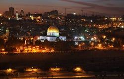 jerusalem panorama- sikt israel Royaltyfri Bild
