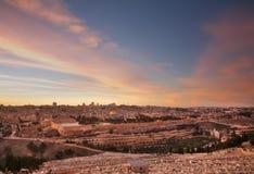 jerusalem panorama- sikt israel Royaltyfria Bilder