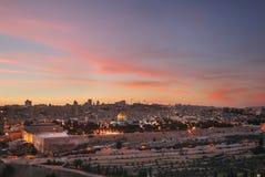 jerusalem panorama- sikt israel Arkivfoto