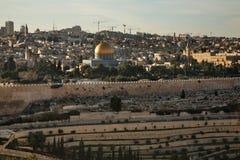 jerusalem panorama- sikt israel Arkivbild