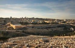 jerusalem panorama- sikt israel Arkivbilder