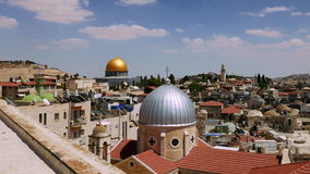 Jerusalem panoramic aerial roof view time lapse stock video