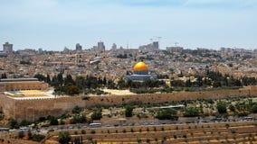 Jerusalem panoramic aerial view Stock Images