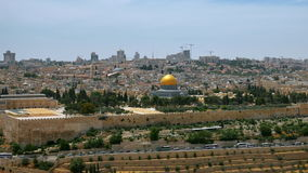 Jerusalem panoramic aerial view time lapse stock video footage
