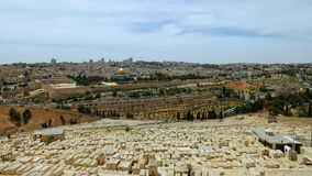 Jerusalem panoramic olive mountain view time lapse stock video footage