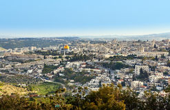 Jerusalem panoramic view Stock Images