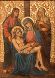 Jerusalem - The Pieta paint from end of 19. cent.  in Armenian Church Of Our Lady Of The Spasm. Stock Photo