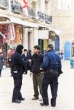 Jerusalem police, protection Royalty Free Stock Photography
