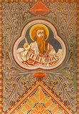 Jerusalem - The prophet Jeremiah.  Paint on the ceiling r of Evangelical Lutheran Church of Ascension. JERUSALEM, ISRAEL - MARCH 3, 2015: The prophet Jeremiah Stock Image