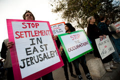 Jerusalem Protest Royalty Free Stock Images