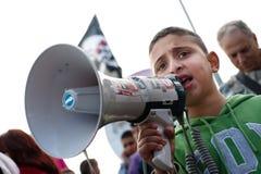 Jerusalem Protest Stock Photography
