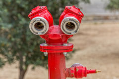 Jerusalem red hydrant Royalty Free Stock Photos
