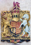 Jerusalem - relief of England royal arms in St. George anglicans church from year 1948. Stock Images