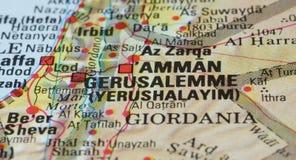 Jerusalem road map Stock Photos