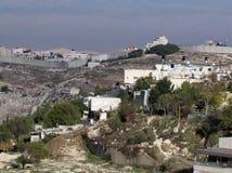 Jerusalem säkerhetsstaket 2012 Royaltyfria Bilder