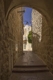 Jerusalem's  Narrow Street Royalty Free Stock Images