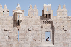 Jerusalem's Old City wall Royalty Free Stock Image