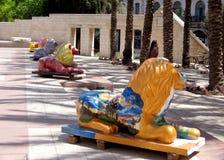 Jerusalem Safra Square lions 2007 Stock Photography
