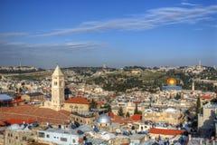 Jerusalem Scene. Aerial view the Old City of Jerusalem, Israel Royalty Free Stock Photo