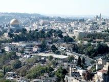 Jerusalem scenisk sikt från Mount Scopus 2010 Arkivbilder