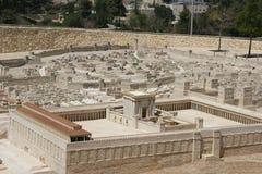 Jerusalem, Second Temple. Jerusalem, Model of the Temple of Herod, Israel stock image