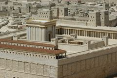 Jerusalem Second Temple, Israel stock photos