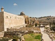 jerusalem sikt Arkivbilder