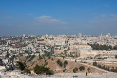 jerusalem sikt Royaltyfri Bild