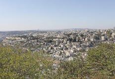 Jerusalem sikt från bästa Israel Royaltyfri Foto