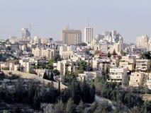 Jerusalem sikt från Haas promenad 2012 Royaltyfria Bilder
