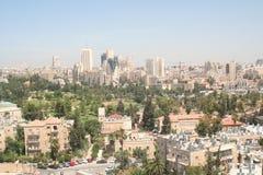 Jerusalem sikt från YMCA Arkivfoto