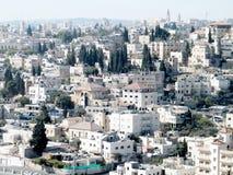 Jerusalem sikt från Mount Scopus 2010 Fotografering för Bildbyråer