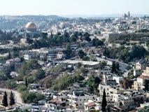 Jerusalem sikten från Mount Scopus 2010 Arkivfoto