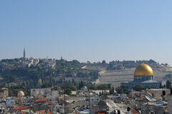 Jerusalem skyline Stock Photos