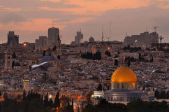 Jerusalem Skyline Royalty Free Stock Photo
