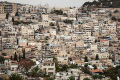 Jerusalem Skyline Cityscape. Skyline Cityscape Panorama of Jerusalem, Israel in the middle east on an overcast day Stock Photography