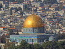 Jerusalem skyline – view from Mount of Olives Royalty Free Stock Photos