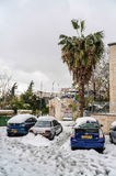 Jerusalem in snow Royalty Free Stock Photo