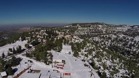 Jerusalem Snowy Mountains stock video footage