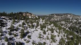 Jerusalem Snowy Mountains stock footage