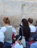 Jerusalem som att jämra sig väggen royaltyfri foto