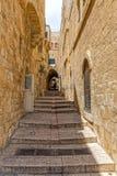 Jerusalem stairway street Stock Images