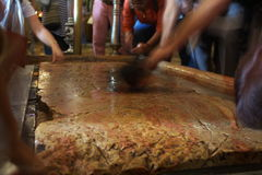 jerusalem stensmörjelse Arkivfoto