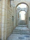 Jerusalem-Straße Stockfotografie