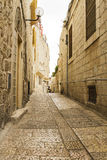 Jerusalem street in the old city . royalty free stock images